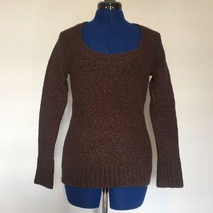Dark Brown Scoop Neck Sweater Sz M